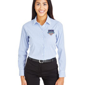 Performance Ladies' Micro Windowpane Shirt
